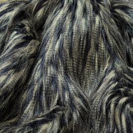 Faux fur with long fur - blue and grey