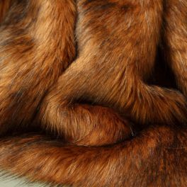 Faux fur with long fur - ginger