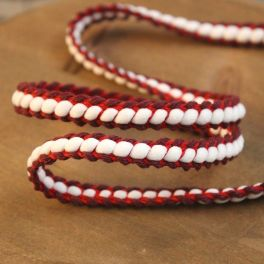 Braided braid trim - red and burgondy