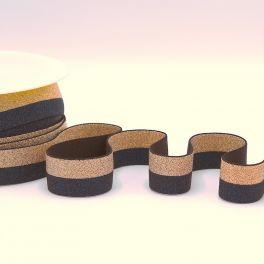 Tweekleurige elastiek - marineblauw en goud
