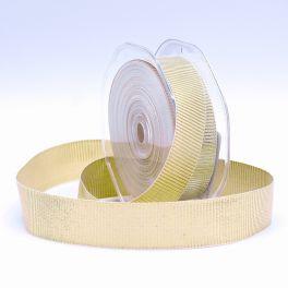 Ripsband - ecru en goud