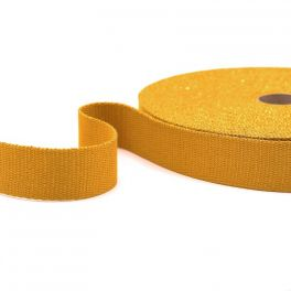 Strap with golden thread - mustard yellow
