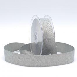 Lint met visgraatdessing - grijs en zilver