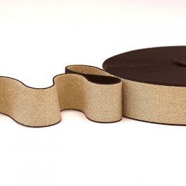 Metallic elastic strap - rose gold
