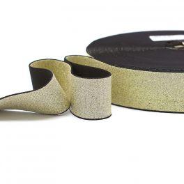 Metallic elastic strap - golden