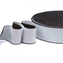 Metallic elastic strap - silver
