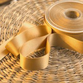 ruban satin sable doré