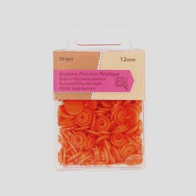Doos met 30 drukknoppen - oranje
