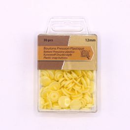 Box with 30 snap buttons - pale yellow