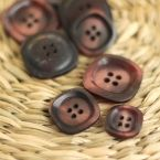 Resin button - old pink and plum