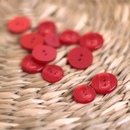 Resin button - raspberry red