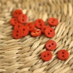 Round resin button 10mm - red