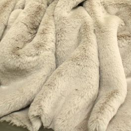 Faux fur with smooth fur - grey