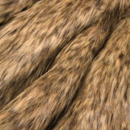 Faux fur with long fur - beige