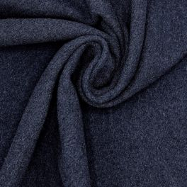 Fabric in wool and polyamide - navy blue