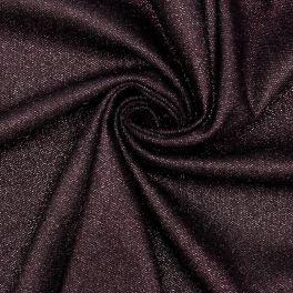 Tissu noir avec fil lurex rose