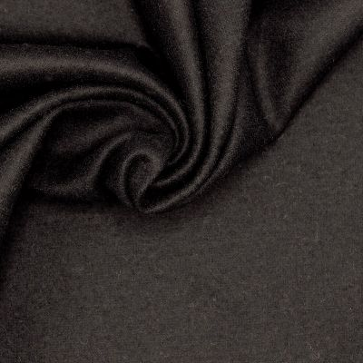 Wool fabric slightly extensible - black