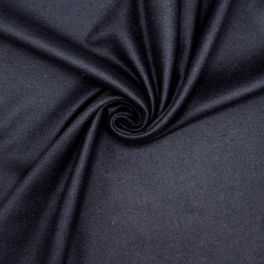 Wool fabric slightly extensible - navy blue
