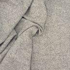 Tissu en laine gris et blanc cassé