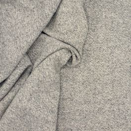 Fabric in wool - grey and off white