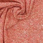 Tissu en laine rouge et blanc cassé