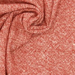 Fabric in wool - red and off white