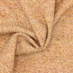 Tissu en laine orange et blanc cassé