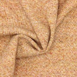 Fabric in wool - orange and off white