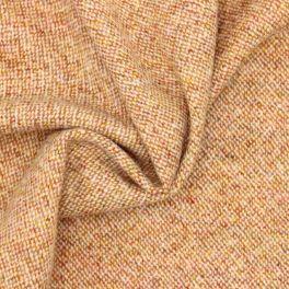 Tissu en laine orange et écru