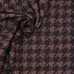 Tissu en laine motif pied de coq