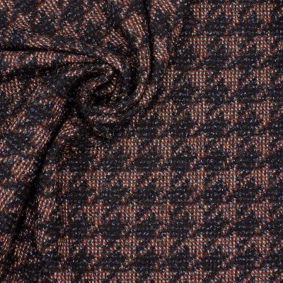 Fabric in wool with pied-de-coq pattern