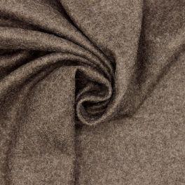 Tissu en laine aspect feutre brun chiné
