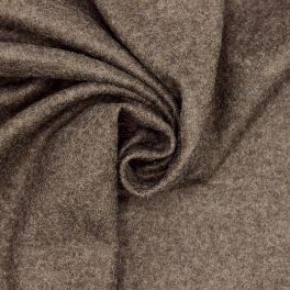 Wool fabric with aspect of felt - mottled brown