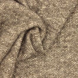 Tissu vestimentaire taupe et écru