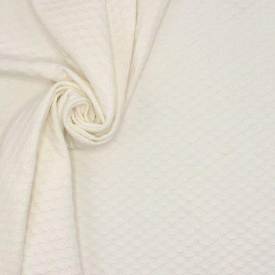 Heavy jacquard jersey fabric - off white