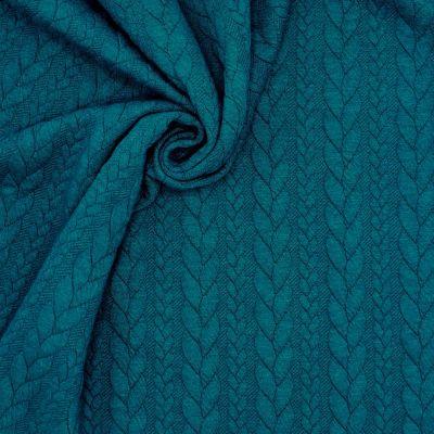 Tissu jersey à motif torsade paon