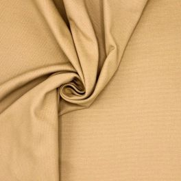 Tissu coton demi natté beige