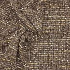 Apparel fabric with golden thread - brown