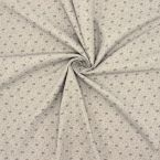 Printed fabric with wool aspect - grey
