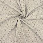 Tissu gris aspect laine imprimé