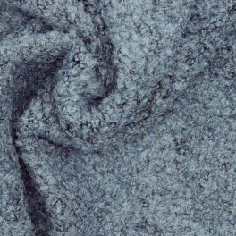 Jersey fabric wool type with curls - blue