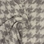 Fabric in wool with pattern - grey