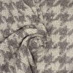Tissu gris en laine à motif