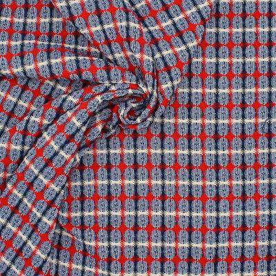 Tissu aspect lainage à motif
