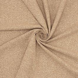 Tissu vestimentaire taupe avec fil doré