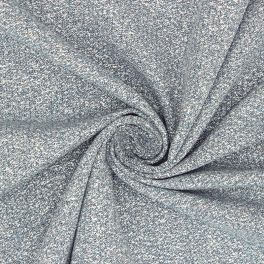 Apparel fabric with golden thread - blue
