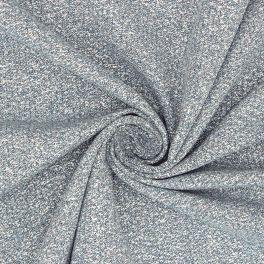 Tissu vestimentaire bleu avec fil doré