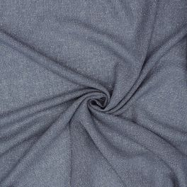 Fabric veil type with silver thread - blue