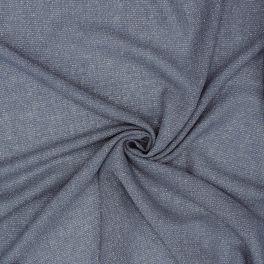 Stof type sluier met zilveren draad - blauw