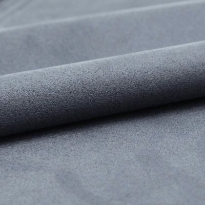 Microfibre fabric imitating suede - blue
